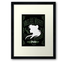 Pluto - Deadly Scream Framed Print