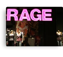 mall rage Canvas Print