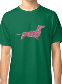 Pyschedelic Sausage Dog Classic T-Shirt