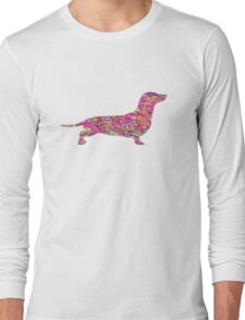 Pyschedelic Sausage Dog Long Sleeve T-Shirt