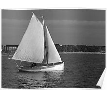 Evening Sail in a Cat Boat Poster