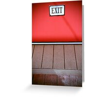 The Next Exit Greeting Card