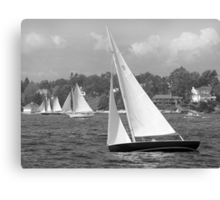 Sailboats Heading Out. Canvas Print
