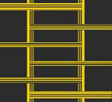Intersecting Yellow Bars by dnatees