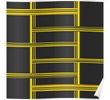 Intersecting Yellow Bars Poster