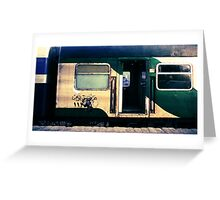 night train to cairo Greeting Card