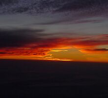 sunset airview by BaZZuKa