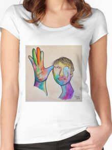 American Sign Language FATHER Women's Fitted Scoop T-Shirt