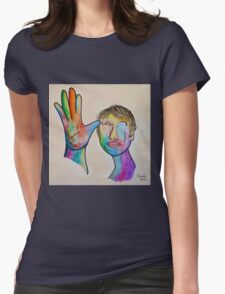 American Sign Language FATHER Womens Fitted T-Shirt