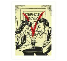 V for Valentine Art Print