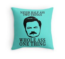 Ron Swanson- Whole Ass One Thing Throw Pillow
