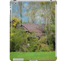 Old Abandoned Farmhouse with Yellow Jasmine vines iPad Case/Skin