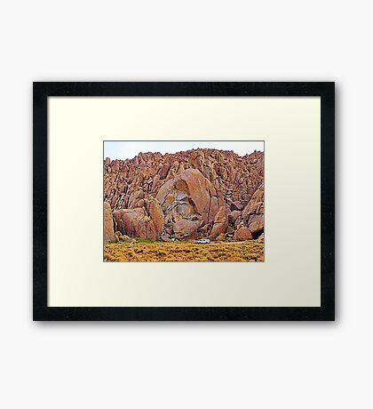 Fractured rock Framed Print