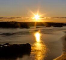 Sunset at St Andrew Beach Sticker
