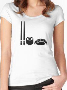 Sushi sticks sashimi Women's Fitted Scoop T-Shirt