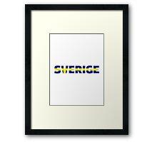Sweden sverige Framed Print