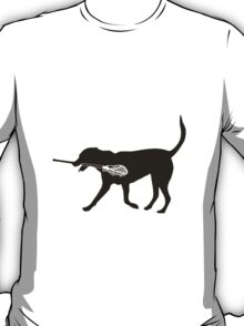 Dog and Lacrosse Stick T-Shirt