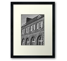 Hayfield House (detail) Framed Print