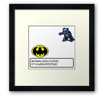 Batman/Pokemon pixel art cross over! Framed Print