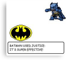 Batman/Pokemon pixel art cross over! Canvas Print