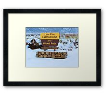Lone Pine campground Framed Print
