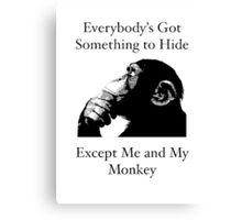 Me & My Monkey Canvas Print