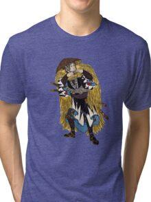 Samurai Woodcut  Tri-blend T-Shirt
