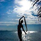 Silhouette of a girl by Dmitry Rostovtsev