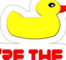 Rubber Ducky You're The One - I Love Sesame Street Inspired T-Shirt Sticker