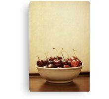 Bowl o' Cherries Canvas Print