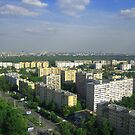 Moscow skyline in summer  by martinspixs