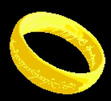 The one ring pixel art by taguzga