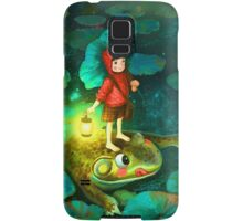 The little girl in the pond with frog Samsung Galaxy Case/Skin