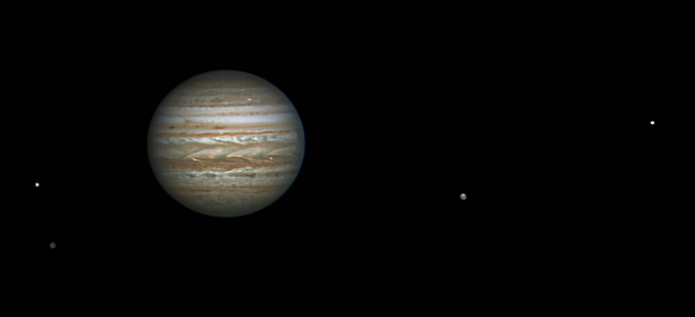 Jupiter and the Galilean Moons by Mike Salway