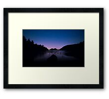 Acadia at Dusk Framed Print