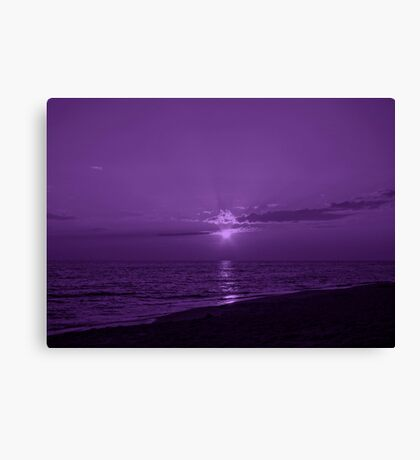 Sunset in Purple 2 Canvas Print
