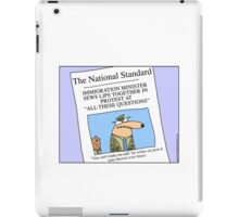Immigration Minister sews lips together iPad Case/Skin