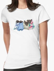 Baby Fruit Bats Womens Fitted T-Shirt