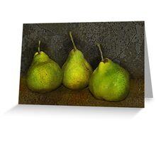 green pears Greeting Card