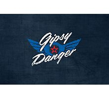 Gipsy Danger - white text Photographic Print