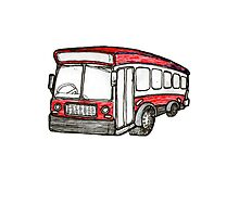 the big red bus Photographic Print