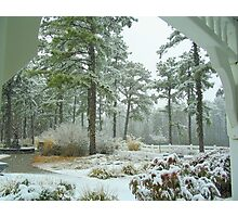 Snow Scene  from The Gazebo  Photographic Print