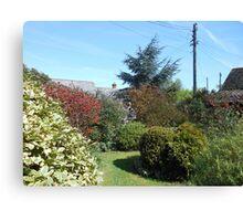 An English Country Garden in Spring Canvas Print