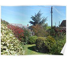 An English Country Garden in Spring Poster