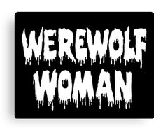 Werewolf Woman Canvas Print
