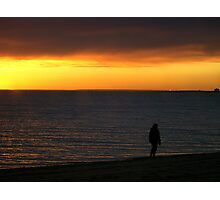 Alone Again Naturally - Elwood Beach, Melbourne, Victoria Photographic Print