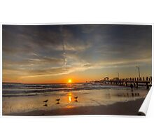 Sunset with my daughter Poster