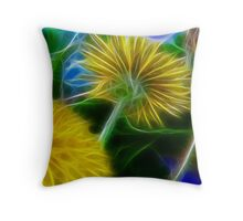 Beautiful Dandelion Throw Pillow