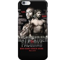 Mayweather vs Pacquiao Shirt  iPhone Case/Skin