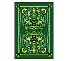 Card Back - Hylian Court Legend of Zelda Photographic Print